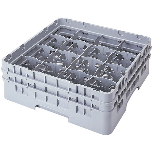 "Cambro Full Size Camrack Glass Rack - 16 Compartment - 5 1/4"" H 16S434"