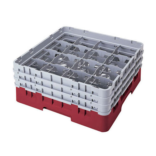 """Cambro Full Size Camrack Glass Rack - 16 Compartment - 6 7/8"""" H 16S638"""
