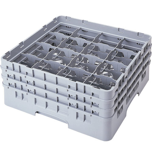 "Cambro Full Size Camrack Glass Rack - 16 Compartment - 7 3/4"" H 16S738"