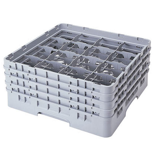 "Cambro Full Size Camrack Glass Rack - 16 Compartment - 9 3/8"" H 16S900"