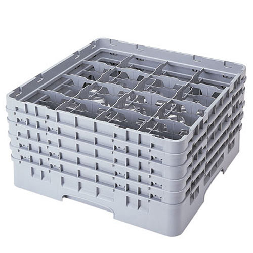 """Cambro Full Size Camrack Glass Rack - 16 Compartment - 10 1/8"""" H 16S958"""