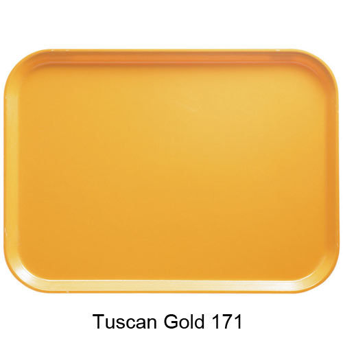 "Cambro Low Profile Rectangular Camtray - 8"" x 9 7/8"" Tuscan Gold 810171"