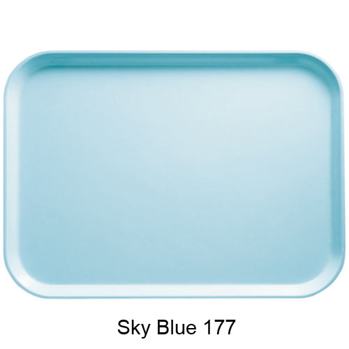 "Cambro Oval Camtray - 19 1/4"" x 24"" Sky Blue 2500177 2"