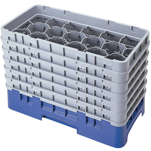 "Cambro Half Size Camrack Glass Rack - 17 Compartment - 11 3/4"" H 17HS1114"