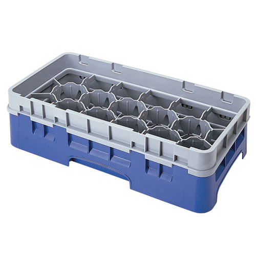 "Cambro Half Size Camrack Glass Rack - 17 Compartment - 3 5/8"" H 17HS318"