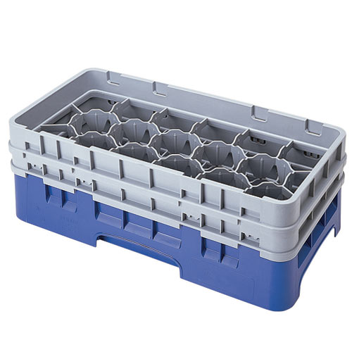 "Cambro Half Size Camrack Glass Rack - 17 Compartment - 5 1/4"" H 17HS434"