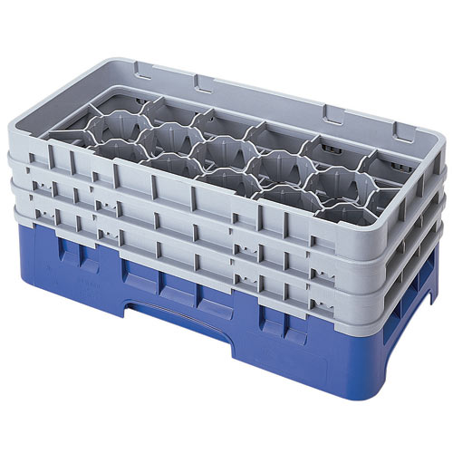 "Cambro Half Size Camrack Glass Rack - 17 Compartment - 6 7/8"" H 17HS638"