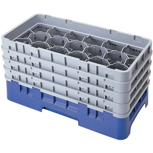 "Cambro Half Size Camrack Glass Rack - 17 Compartment - 8 1/2"" H 17HS800"
