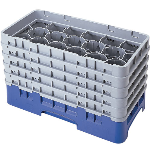 "Cambro Half Size Camrack Glass Rack - 17 Compartment - 10 1/8"" H 17HS958"