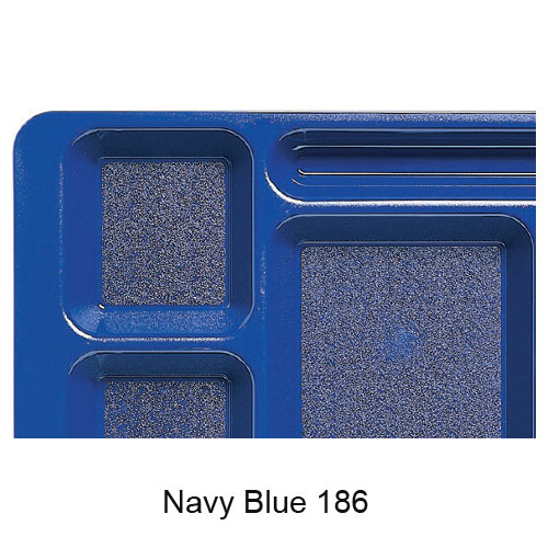 Cambro Polycarbonate School Compartment 2 X 2 Tray -  Navy Blue 915CW186 2