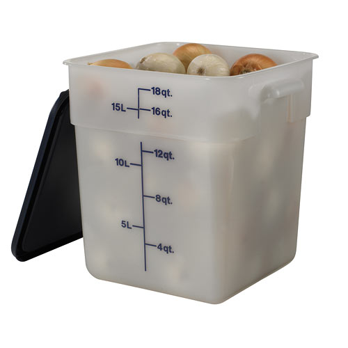 Cambro CamSquares Storage Container- 18 qt White 18SFSP148