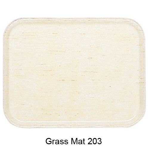 "Cambro Rectangular Camtray - 16"" x 22"" Grass Mat 1622203"