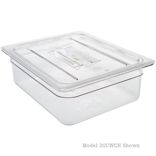 Cambro Camwear Polycarbonate Food Pan Cover w/ Handle - Clear Full Size 10CWCH135