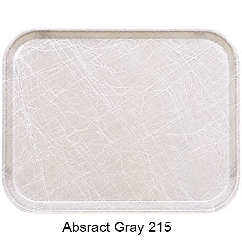 "Cambro Oval Camtray - 19 1/4"" x 24"" Abstract Gray 2500215 2"