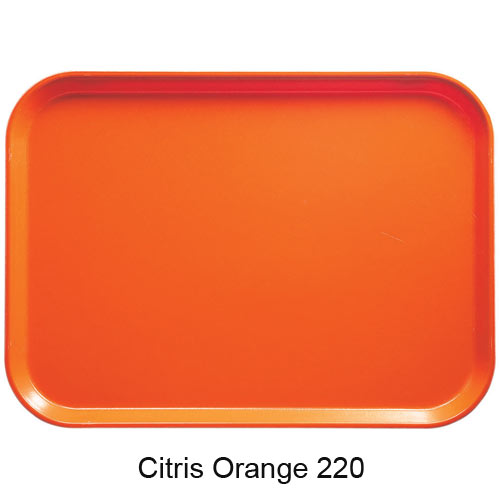 "Cambro Dietary Tray - 12"" x 19"" Citrus Orange 1219D220 2"