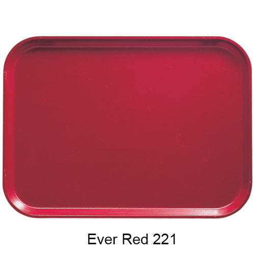 "Cambro Rectangular Camtray - 8 3/4"" x 15"" Ever Red 915221"