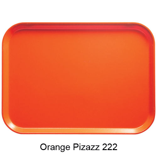 "Cambro Round Camtray - 9"" Orange Pizazz 900222 2"