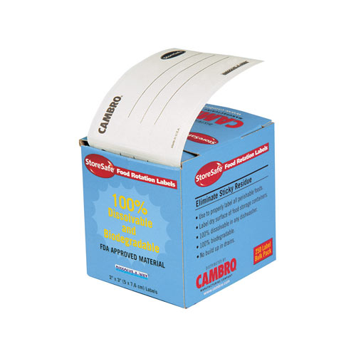 """Cambro StoreSafe Food Rotation Label 24 Pack - Blank 2"""" x3"""" 23SLINB250"""