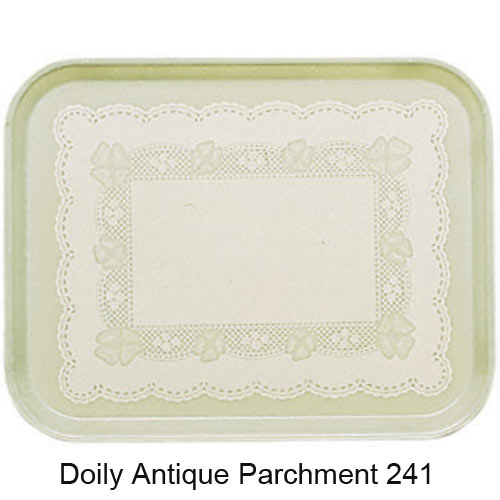 "Cambro Rectangular Camtray - 16"" x 22"" Doily Antique Parchment 1622241"