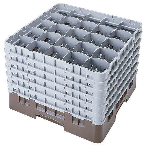 "Cambro Full Size Camrack Glass Rack - 25 Compartment - 11 3/4"" H 25S1114"