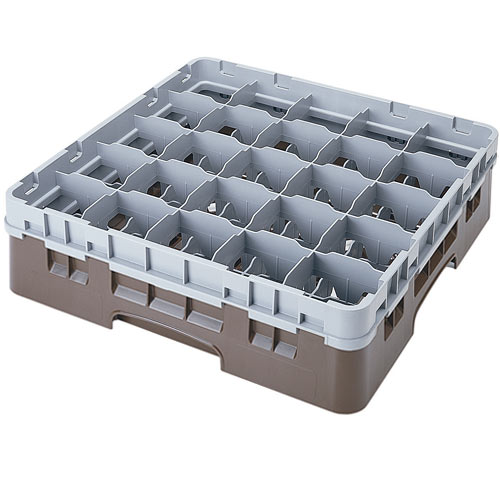 "Cambro Full Size Camrack Glass Rack - 25 Compartment - 3 5/8"" H 25S318"