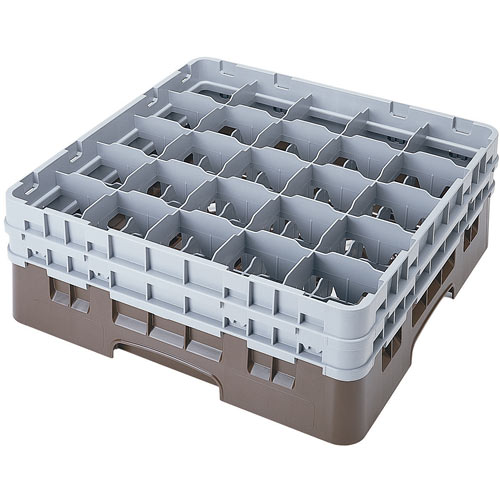 "Cambro Full Size Camrack Glass Rack - 25 Compartment - 6 1/8"" H 25S534"