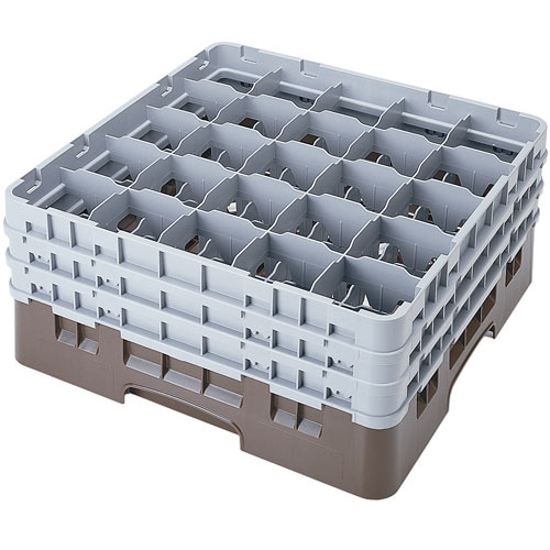 "Cambro Full Size Camrack Glass Rack - 25 Compartment - 7 3/4"" H 25S738"