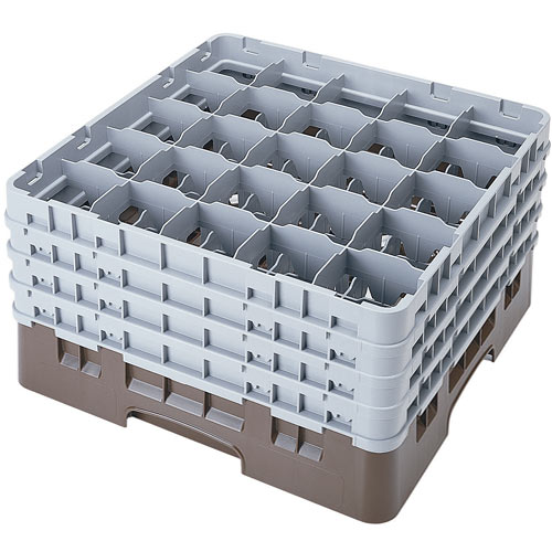 "Cambro Full Size Camrack Glass Rack - 25 Compartment - 8 1/2"" H 25S800"
