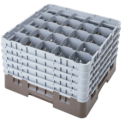 "Cambro Full Size Camrack Glass Rack - 25 Compartment - 10 1/8"" H 25S958"