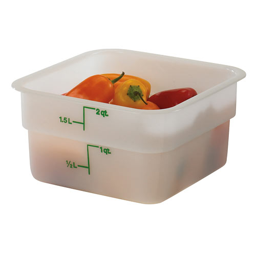 Cambro CamSquares Storage Container- 2 qt White 2SFSP148