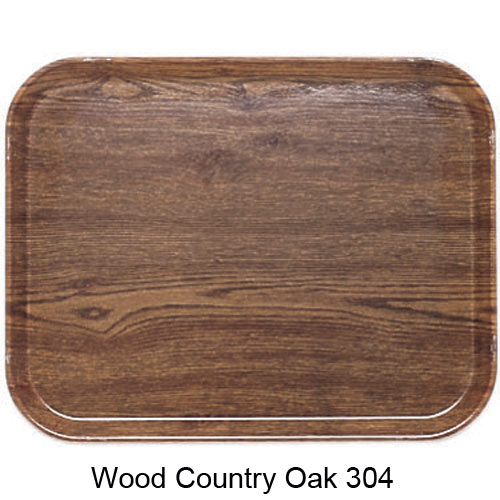 "Cambro Rectangular Camtray - 12"" x 16 5/16"" Country Oak 1216304"