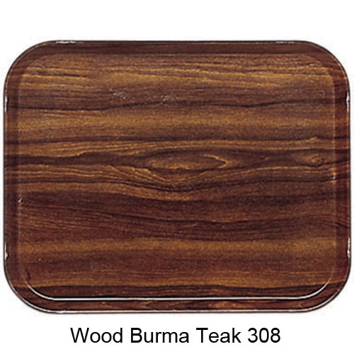 "Cambro Low Profile Rectangular Camtray - 4 1/4"" x 6"" Burma Teak 46308"