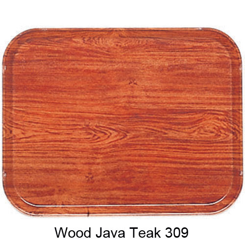 "Cambro Low Profile Rim Round Camtray - 19 1/2"" Java Teak 1950309 2"