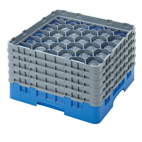 """Cambro Full Size Camrack Glass Rack - 30 Compartment - 10 1/8"""" H 30S958"""