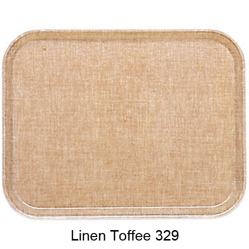 "Cambro Rectangular Camtray - 10 5/8"" x 13 3/4"" Linen Toffee 1014329"
