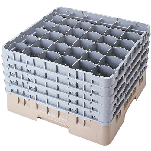 "Cambro Full Size Camrack Glass Rack - 36 Compartment - 10 1/8"" H 36S958"