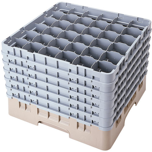 "Cambro Full Size Camrack Glass Rack - 36 Compartment - 12 5/8"" H 36S1214"