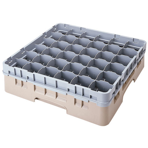 "Cambro Full Size Camrack Glass Rack - 36 Compartment - 4 1/2"" H 36S418"