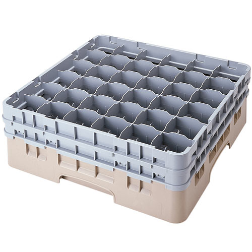 "Cambro Full Size Camrack Glass Rack - 36 Compartment - 6 1/8"" H 36S534"