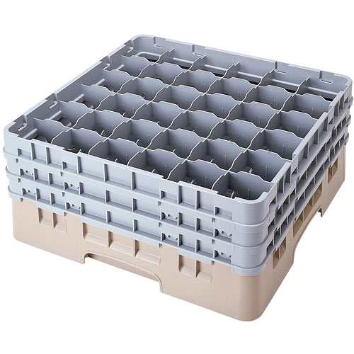 "Cambro Full Size Camrack Glass Rack - 36 Compartment - 7 3/4"" H 36S738"