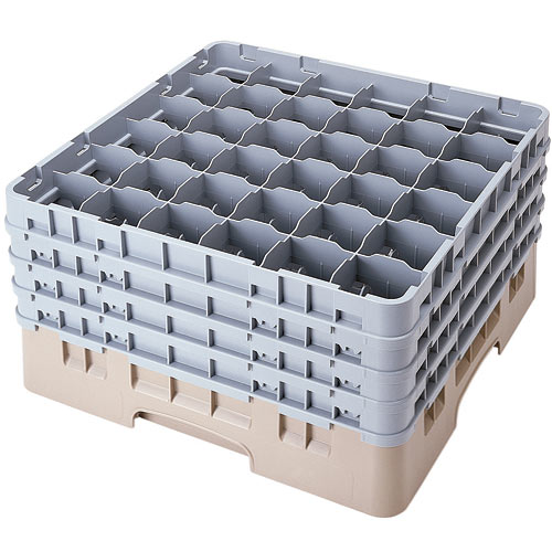 "Cambro Full Size Camrack Glass Rack - 36 Compartment - 8 1/2"" H 36S800"
