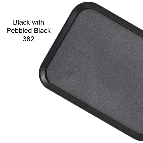 Cambro Non-Skid Versa Camtray for Room Service -  Black w/Pebbled Black 1520VCRST382 2