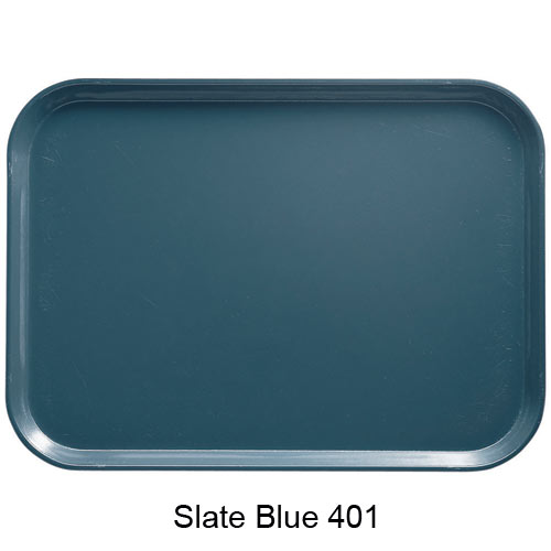 "Cambro Low Profile Rectangular Camtray - 4 15/16"" x 6 15/16"" Slate Blue 57401"