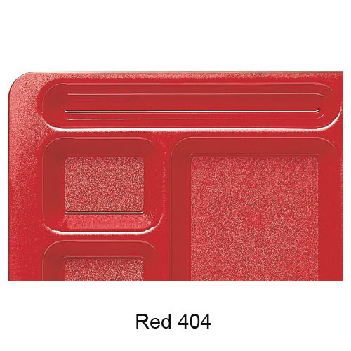 Cambro Polycarbonate School Compartment 2 X 2 Tray -  Red 915CW404 2