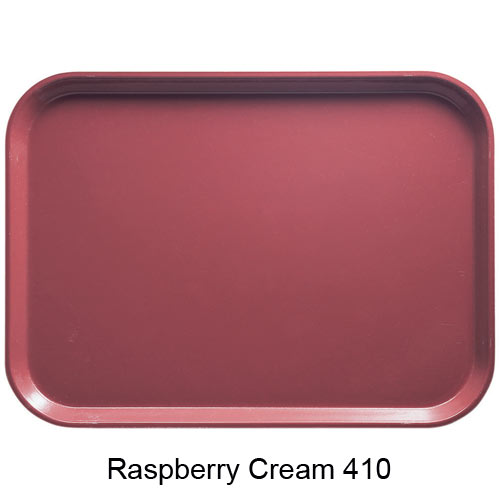 "Cambro Dietary Tray - 12"" x 19"" Raspberry Cream 1219D410 2"