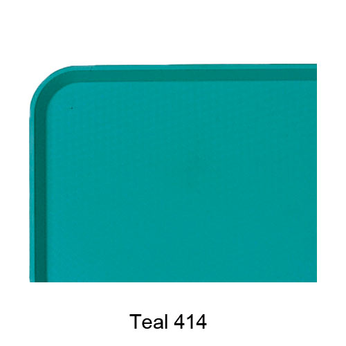 "Cambro Fast Food Tray - 11 7/8"" x 16 1/8"" Teal 1216FF414"