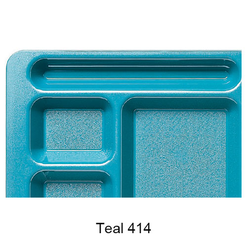 Cambro Camwear School Compartment 2 X 2 Tray -  Teal 1596CW414 2