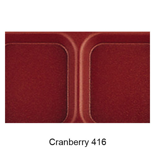 Cambro Co-Polymer School Compartment 2 X 2 Tray -  Cranberry 915CP416 2