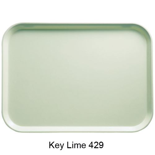"Cambro Rectangular Camtray - 14"" x 18"" Key Lime 1418429"