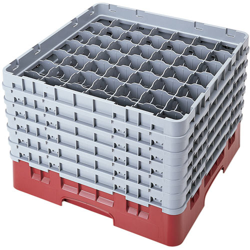 "Cambro Full Size Camrack Glass Rack - 49 Compartment - 11 3/4"" H 49S1114"
